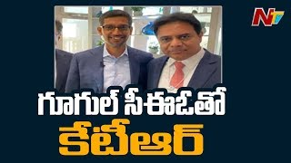 KTR Davos Tour Highlights; Meets Google CEO Sundar Pichai..