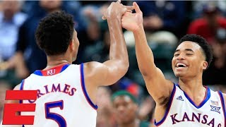 No. 1 Kansas holds off Michigan State, Quentin Grimes impressive in debut | CBB Highlights