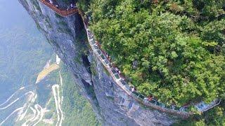 Glass Sidewalk on Tianmen Mountain! - Breathtaking Views
