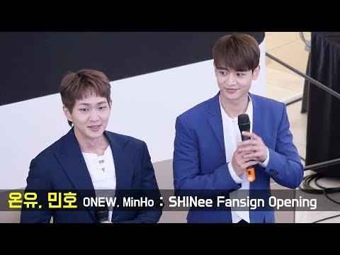 180629 온유, 민호 ONEW, MinHo Fancam : 샤이니 팬싸인회 SHINee Fansign Event : Goyang Starfield