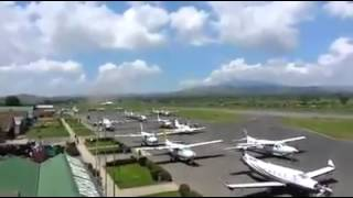 Ethiopian Airlines BOEING 767 Emergency Landing in ARUSHA AIRPOT TANZANIA on Dec18.2013 Then  TAKIN