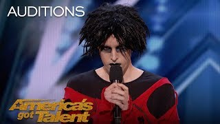 Oliver Graves: Gothic Comedian Slays Hilarious Set, Gets Emotional - America's Got Talent 2018