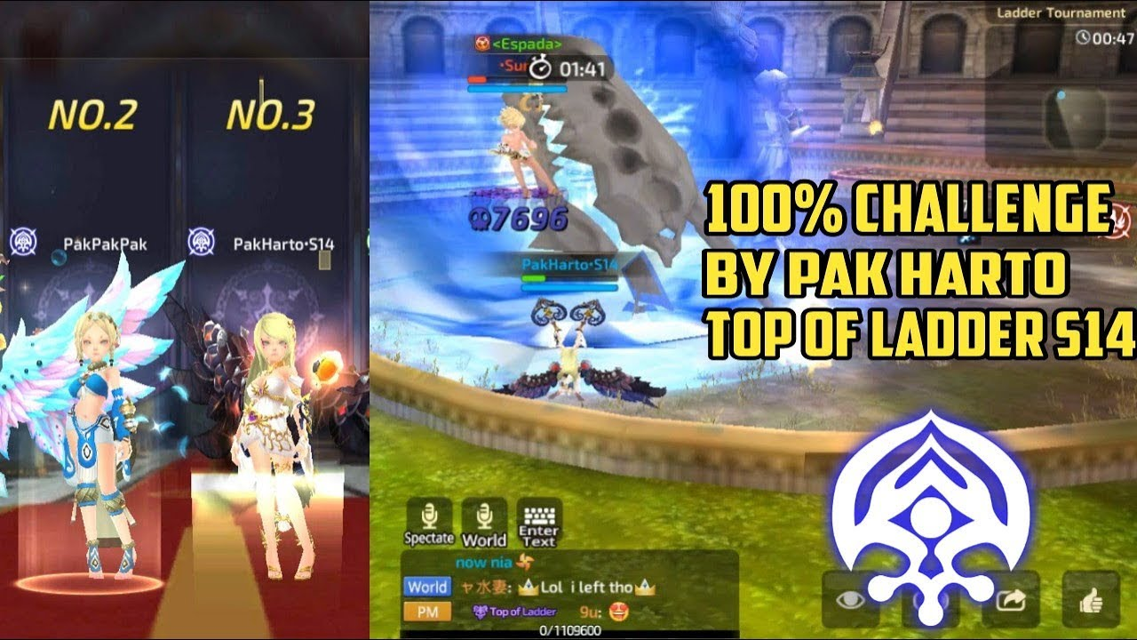 Winrate 100% Challenge by •Pak•Harto | Good Dark Shaman s14 - Dragon Nest M  SEA