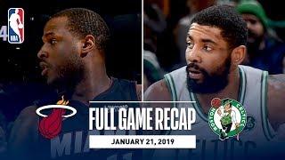 Full Game Recap: Heat vs Celtics   Kyrie Irving Records A New Career-High 8 Steals