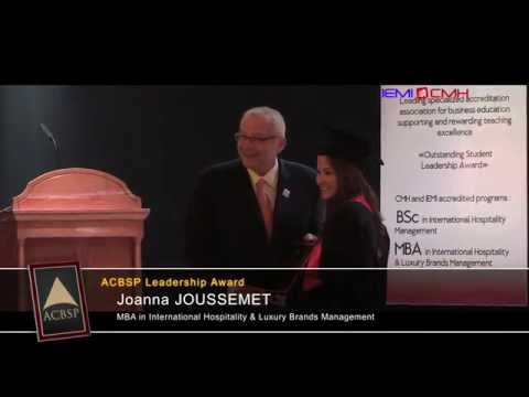 Student leadership Award - Joanna JOUSSEMENT