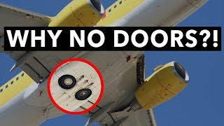 Why does the Boeing 737 not have any landing-gear doors?