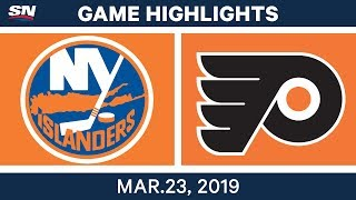 NHL Game Highlights | Islanders vs. Flyers - March 23, 2019