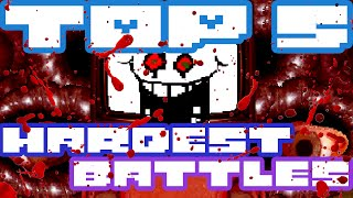 The Top 5 Hardest Boss Battles in Undertale | UNDERLAB