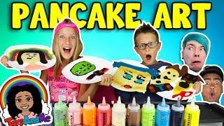 PANCAKE ART CHALLENGE! - YOUTUBER EDITION!!!!