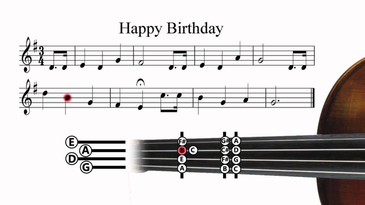 happy birthday letter notes for violin happy birthday violin tutorial 16141