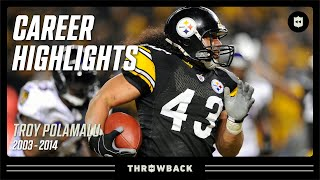 Troy Polamalu's UNREAL Career Highlights | NFL Legends