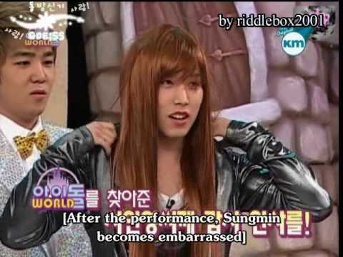 Sexy Superjunior Lee Sungmin Cross-Dressing as Girl