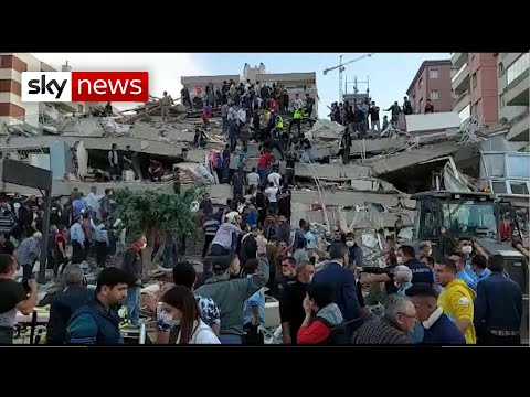 New Pictures: Buildings collapse as massive earthquake hits Greece and Turkey