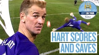 Joe Hart Scores and Saves Penalty v Roma