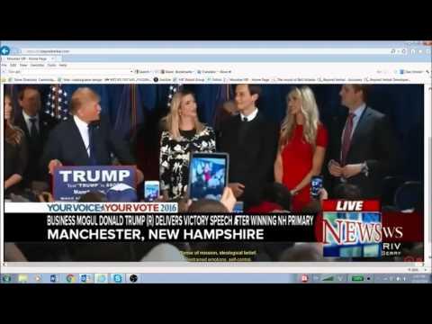 Trump winning New Hampshire primary