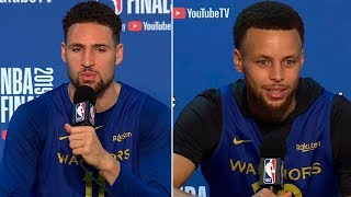 Stephen Curry & Klay Thompson Full Interview - Game 6 Preview | 2019 NBA Finals Media Availability