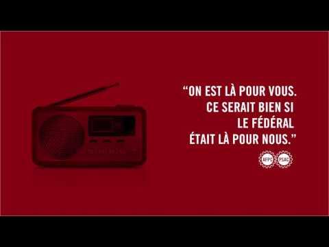 L'Alliance de la Fonction publique du Canada (AFPC) lance une campagne radio visant à sensibiliser le public à l'important travail que font les agentes et agents des services frontaliers et d'exécution de la loi qui travaillent pour l'Agence des services frontaliers du Canada (ASFC).
