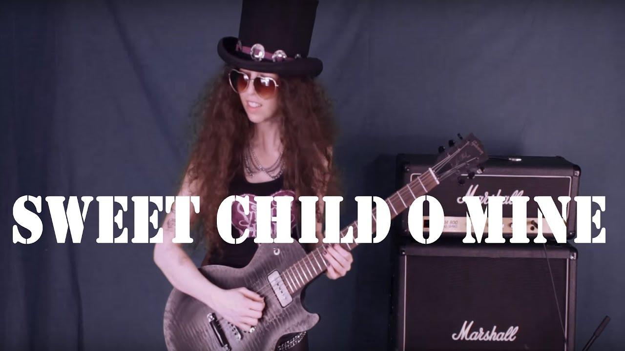 guns n roses sweet child o 39 mine guitar cover by violet heart youtube. Black Bedroom Furniture Sets. Home Design Ideas