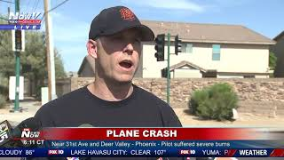 PILOT IN CRITICAL CONDITION: Following plane crash off 31st Ave/Deer Valley in Phoenix