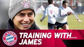 Training with James Rodríguez | FC Bayern