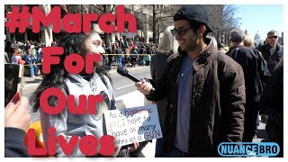 Interviewing Gun Control Protesters At March For Our Lives Protest