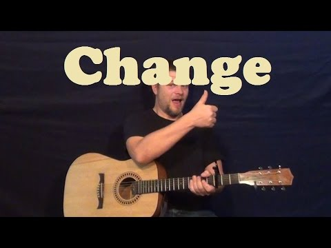 Change (Poets of the Fall) Guitar Lesson Easy Strum Chords How to Play Tutorial