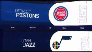 Utah Jazz vs Detroit Pistons Game Recap   1/14/19   NBA