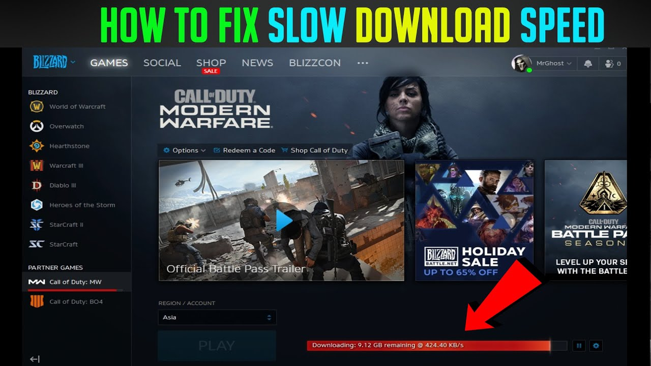 How To Speed Up Downloads On Blizzard