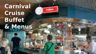 Carnival Cruise Buffet Food & Menus for Breakfast, Lunch & Dinner (4K)