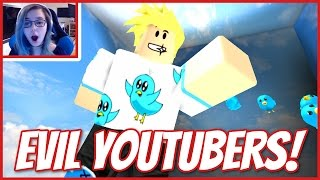 ROBLOX ESCAPE THE EVIL YOUTUBERS | LOOK MOM I'M IN AN OBBY!
