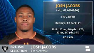 Oakland Raiders Select Josh Jacobs With Pick #24 In 1st Round of 2019 NFL Draft - Grade & Analysis