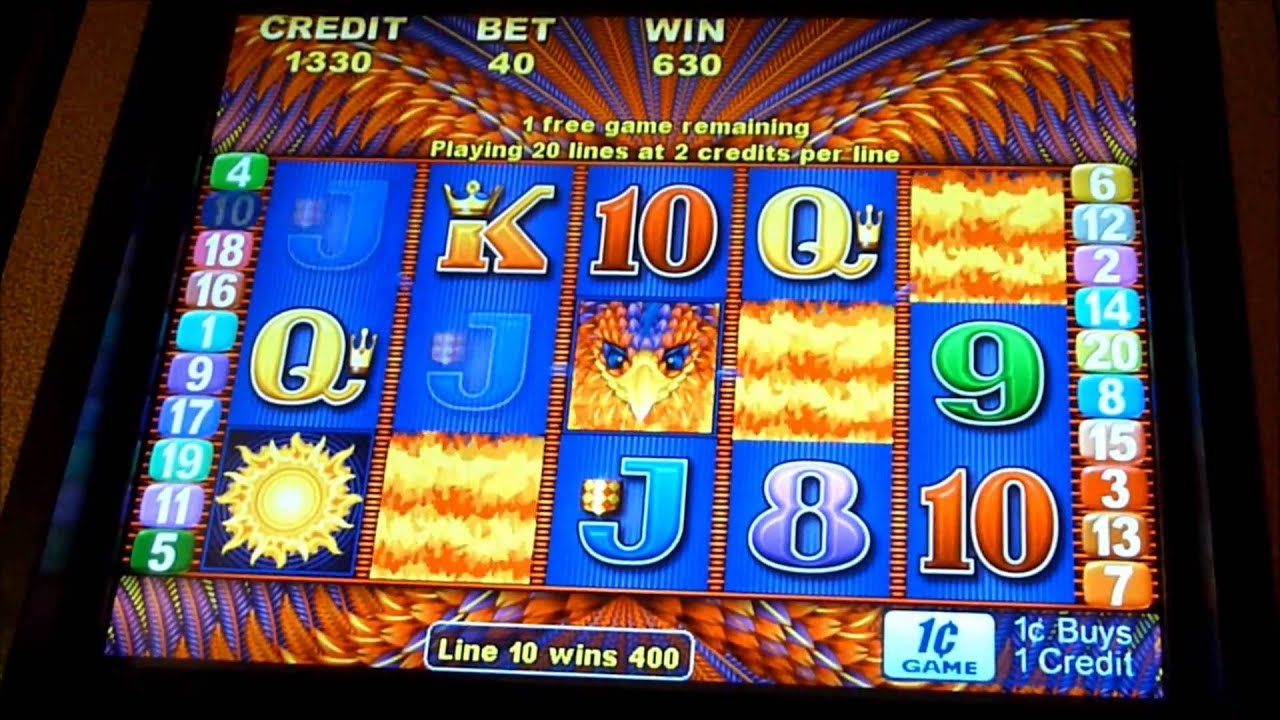 Phoenix Fantasy Slot Machine Bonus Win Queenslots Youtube