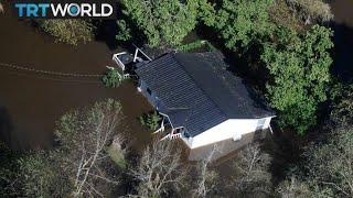 Hurricane Florence: Winds and rain lashing Carolina coast