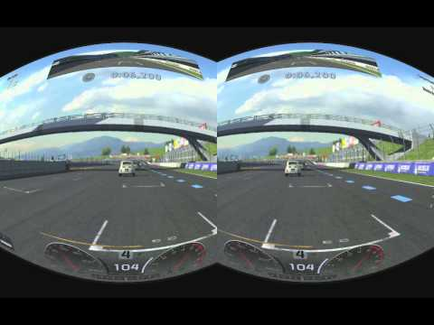 PS3 Gran Tourismo 5 stereoscopic 3D realtime rifted for Oculus Rift @Blackmagic Intensity Pro