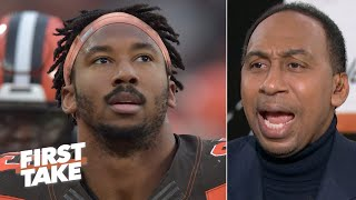 Stephen A. wonders why it took Myles Garrett a week to make his racial slur accusation | First Take
