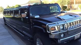 "200"" Black Hummer Limousine - Exterior"