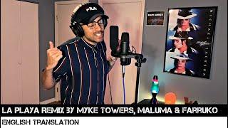 La Playa Remix by Myke Towers, Maluma & Farruko (ENGLISH TRANSLATION)