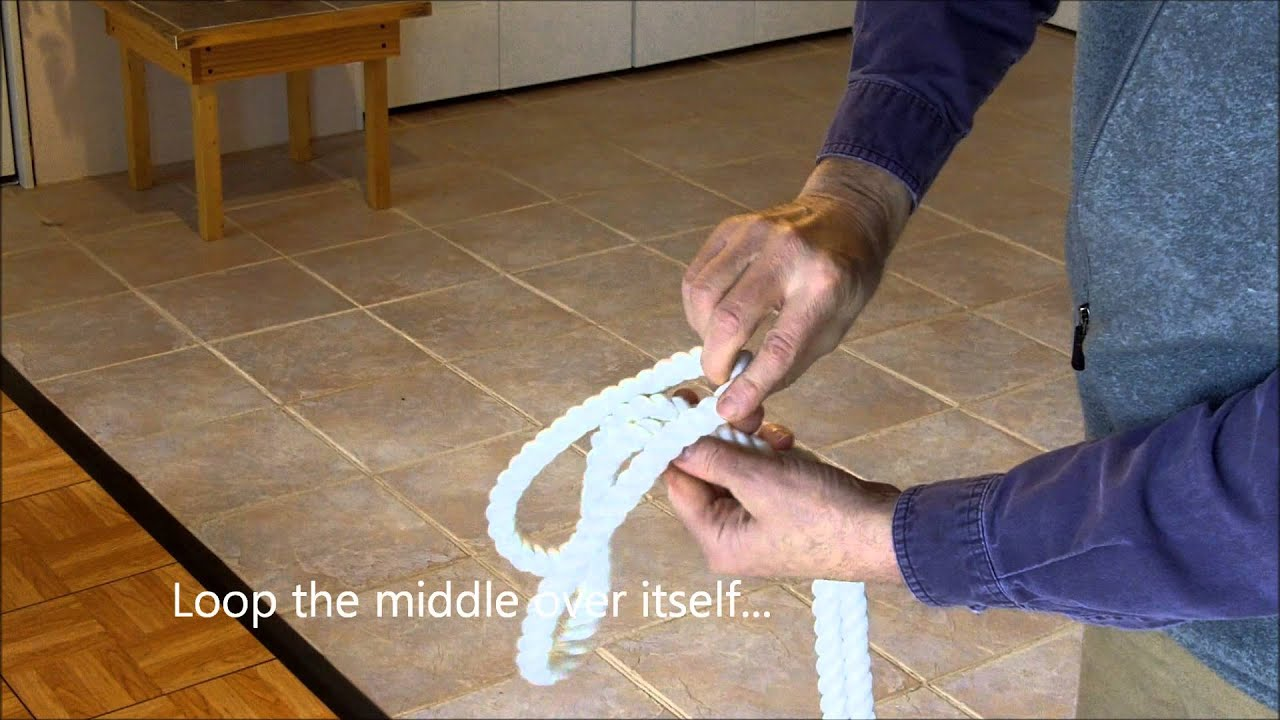Tying A Rope Cincture - YouTube