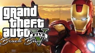 Làm Người Sắt Ironman Trong GTA V Mod Tập 1 Điên cuồng phá phách