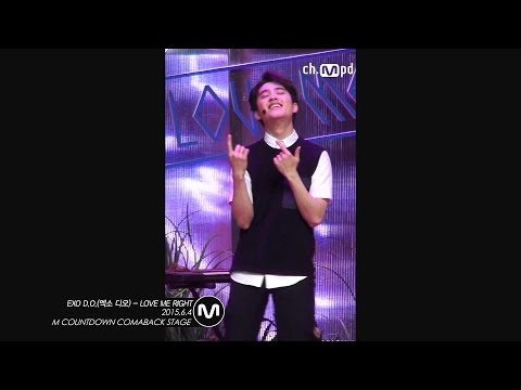 [MPD직캠] 엑소 디오 직캠 LOVE ME RIGHT EXO D.O. Fancam  Mnet MCOUNTDOWN 150604