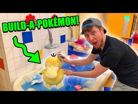 BUILDING THE NEW POKEMON PLUSHIES at BUILD A BEAR WORKSHOP! (Exclusive Cards & Unboxing)