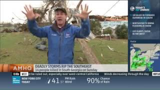 Mike Seidel The Weather Channel Nashville, GA Tornado Aftermath 1-23-2017