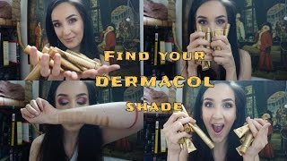 Find your DERMACOL SHADE !!! |Paint My Face