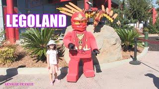 Bé Peanut Đi Khu Vui Chơi LegoLand Tại Mỹ  / Peanut Chơi Tàu Siêu Tốc Lượn Siêu Tốc Đồ Chơi