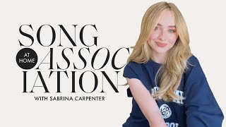 Sabrina Carpenter Sings Taylor Swift, Ariana Grande, & The 1975 in a Game of Song Association | ELLE