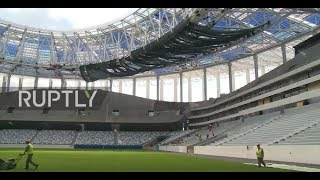 Russia: 45,000 seater 2018 World Cup stadium nears completion in Nizhny Novgorod