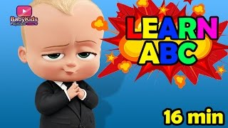 Boss baby intro - Alphabet learn mixed collection - Abc song - Boss Baby kids playhouse