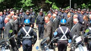 Weymouth Police and Fire Department march into St Mary's