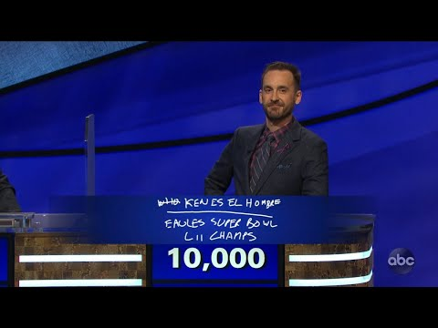 Brad Rutter pays homage to Eagles during 'Jeopardy! The Greatest of All Time'