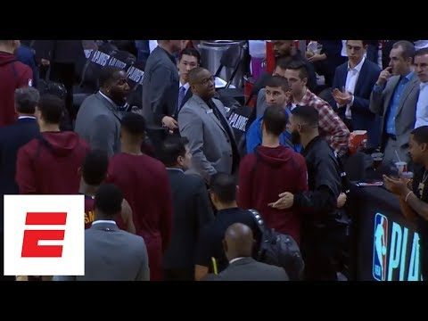 Kendrick Perkins yells 'don't f--- with me' at Drake during one of two heated exchanges | ESPN
